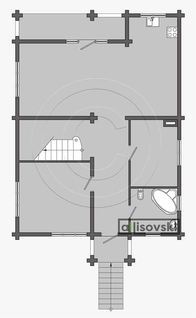 План дома из деревянного бруса планировка чертеж