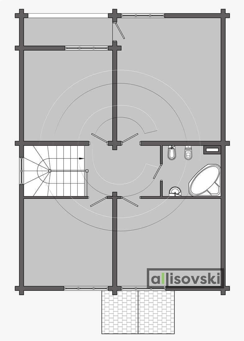 План дома из деревянного бруса планировка