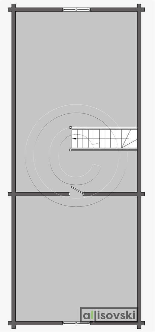 Планировка мансардного этажа бани из бруса