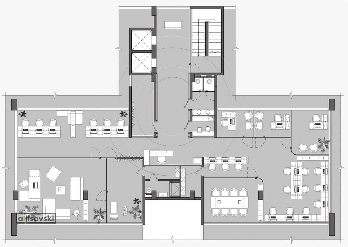 План перепланировка офиса расположение мебели планировка чертежи