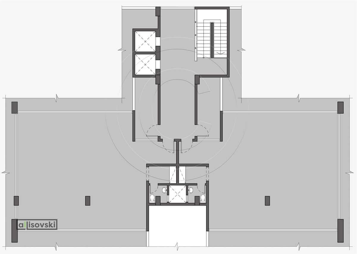 Обмерный план офиса обмер чертеж