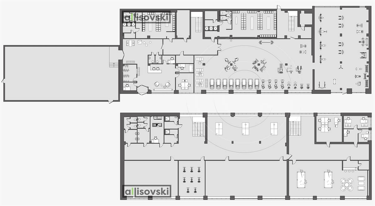 План перепланировка фитнес расположение мебели планировка чертежи