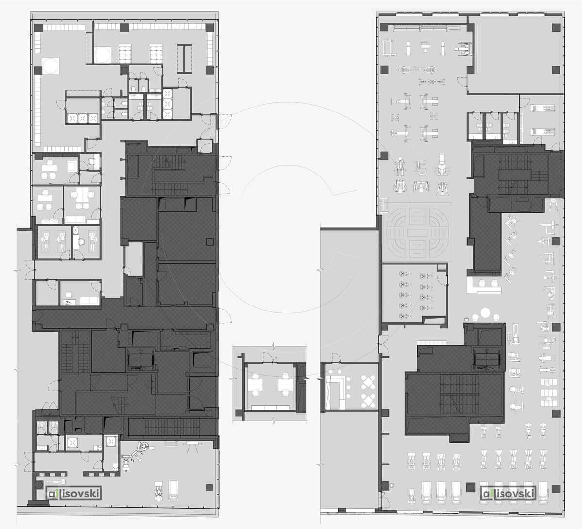 План перепланировка фитнес клуба расположение мебели планировка чертежи