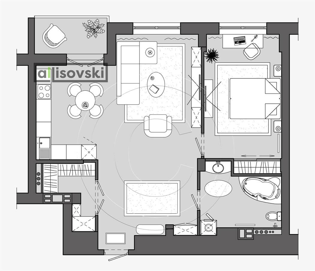 План перепланировка квартиры расположение мебели планировка чертежи Маяк Минска