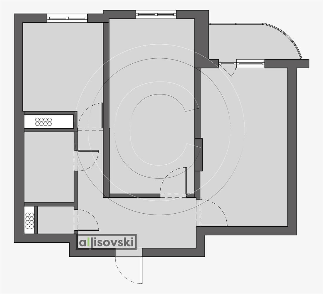 Обмерный план квартиры обмер
