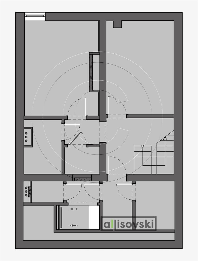 Монтажный план цокольный этаж дом монтаж чертеж