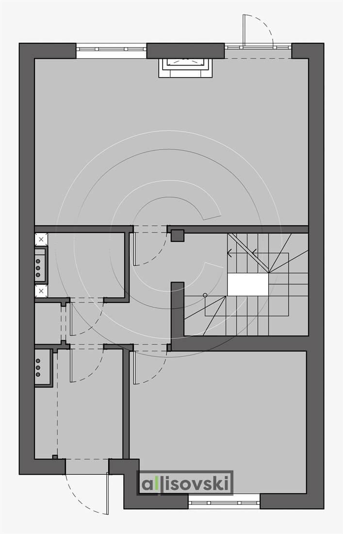Монтажный план первый этаж дом монтаж чертеж