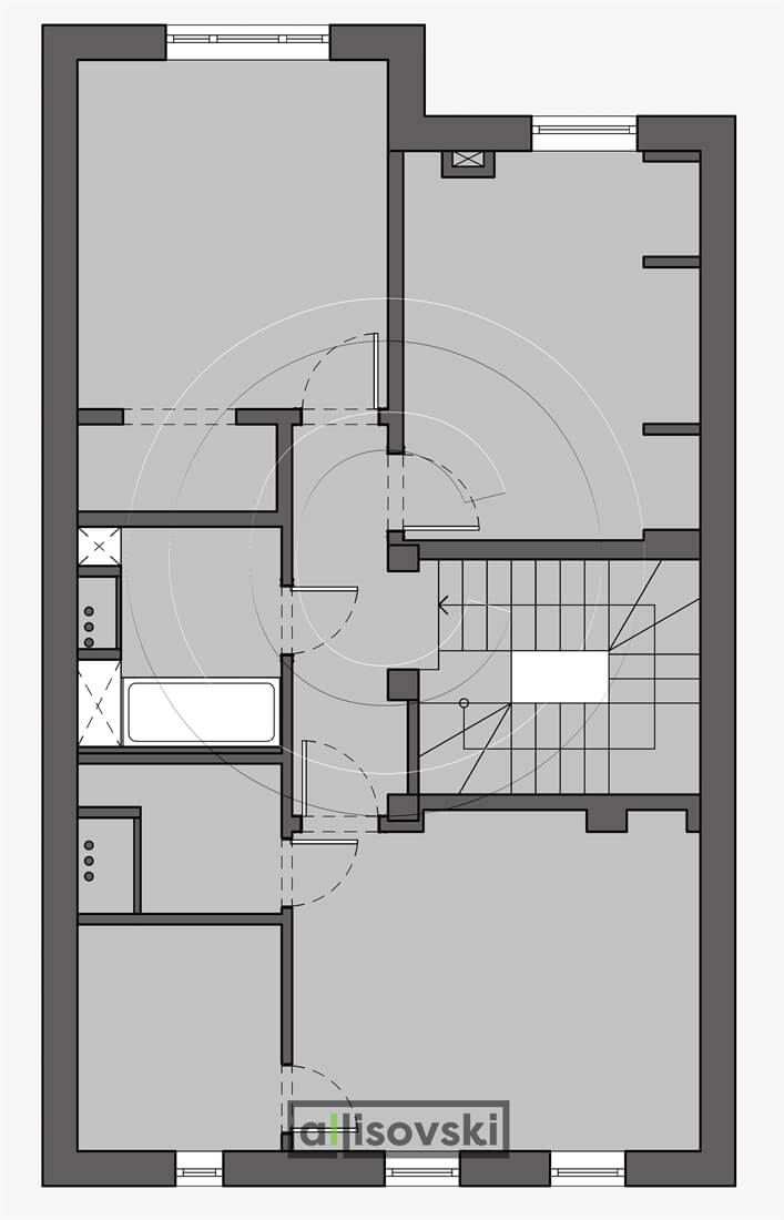 Монтажный план второй этаж дом монтаж чертеж