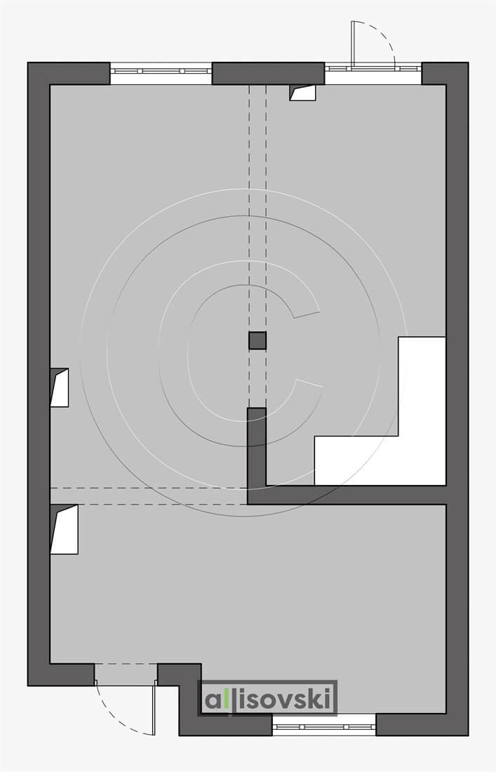 Обмерный план первого этажа обмер чертеж