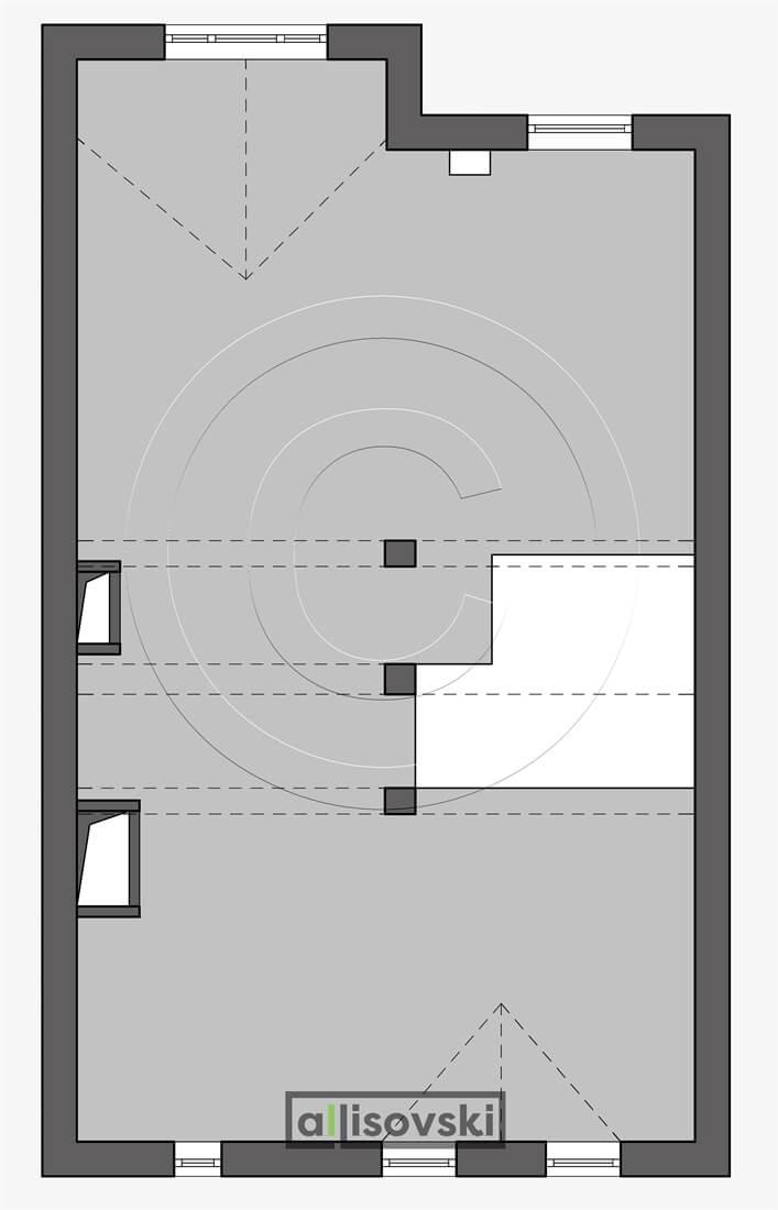 Обмерный план второго этажа обмер чертеж