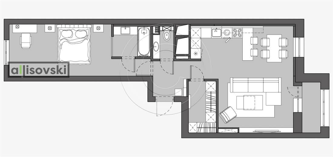 План перепланировка квартиры расположение мебели планировка чертежи Времена года