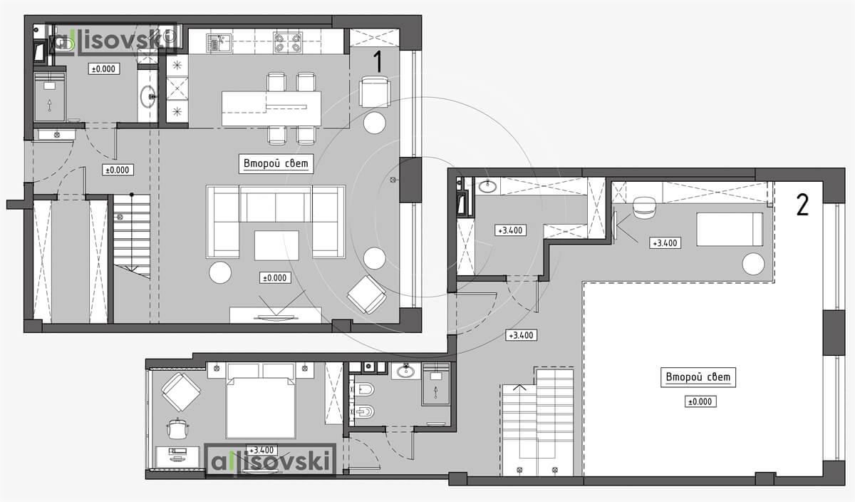 План перепланировка таунхауса расположение мебели планировка чертежи