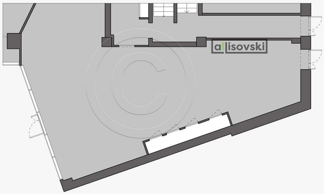 Обмерный план ресторана обмер чертеж