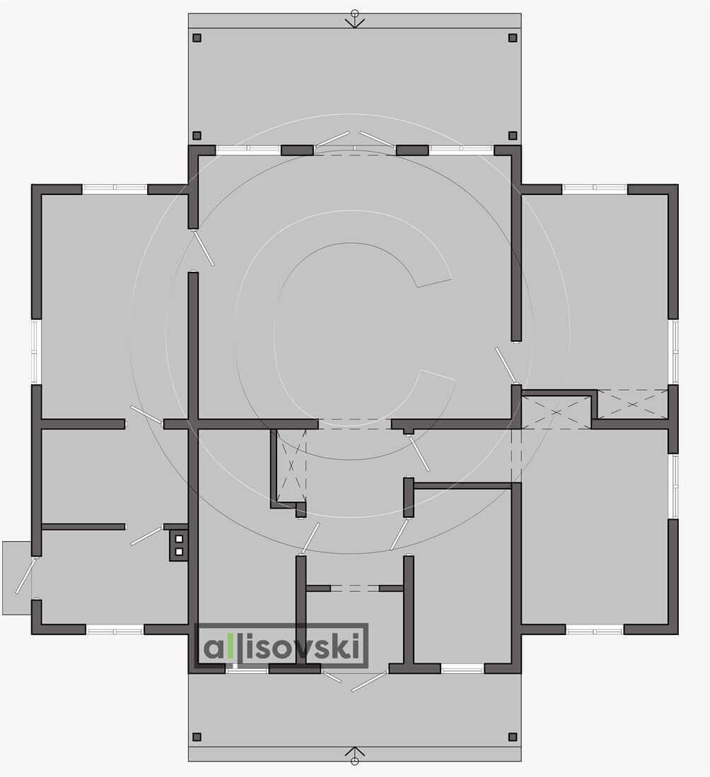План первого этажа планировка каркасный дом