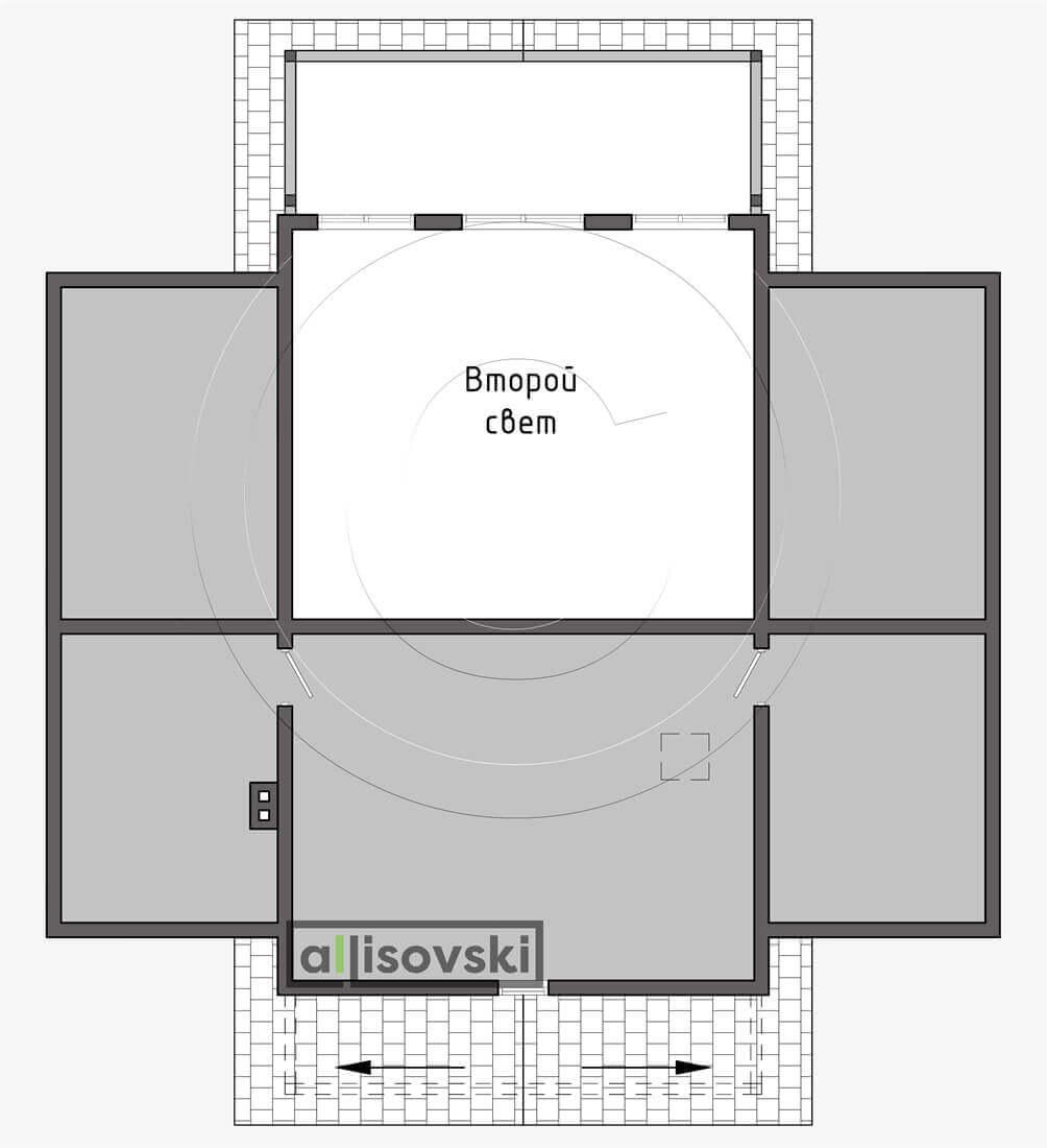 План второго этажа планировка каркасный дом