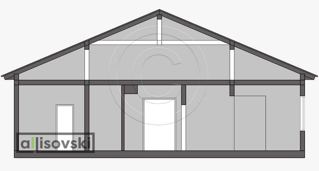 Разрез сечение планировка каркасный дом