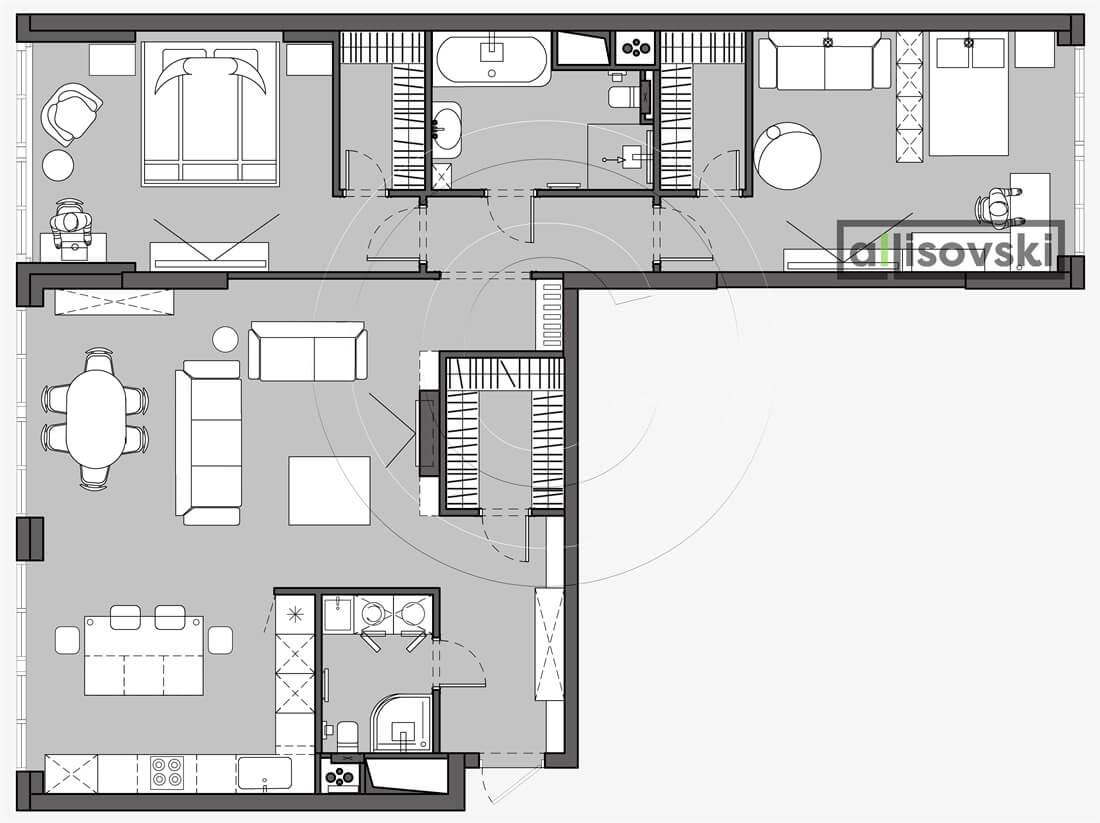 План перепланировка квартиры расположение мебели планировка чертежи Наследие