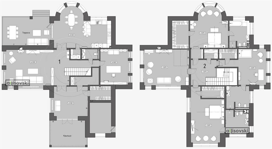 План перепланировка дома расположение мебели планировка чертежи Ясенево