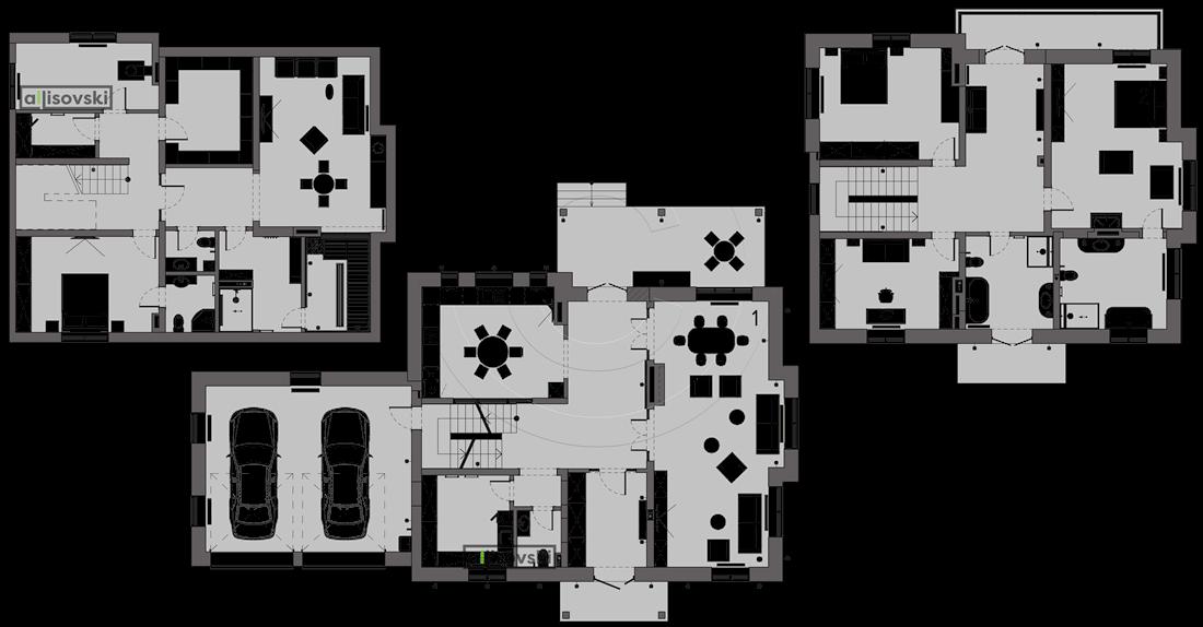План перепланировки дома расположение мебели на плане чертежи