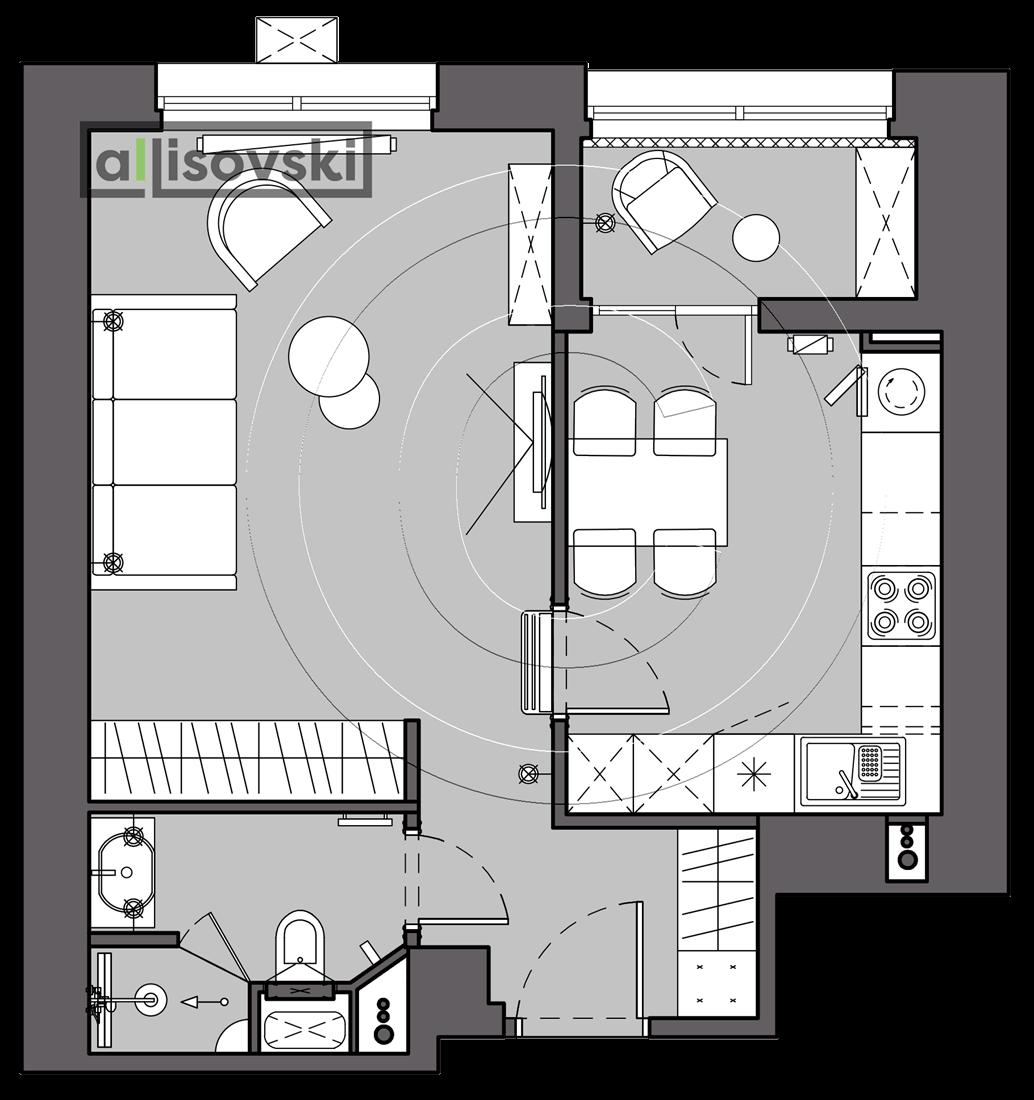 План перепланировка квартиры расположение мебели на плане чертежи