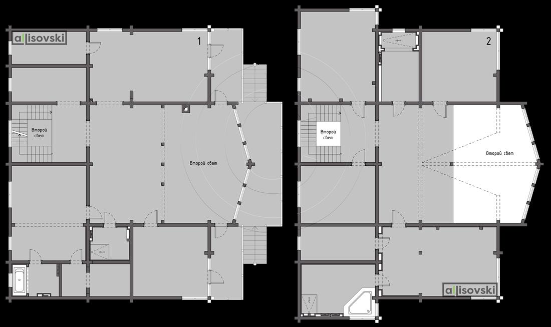 Планировка дома из деревянного клееного бруса