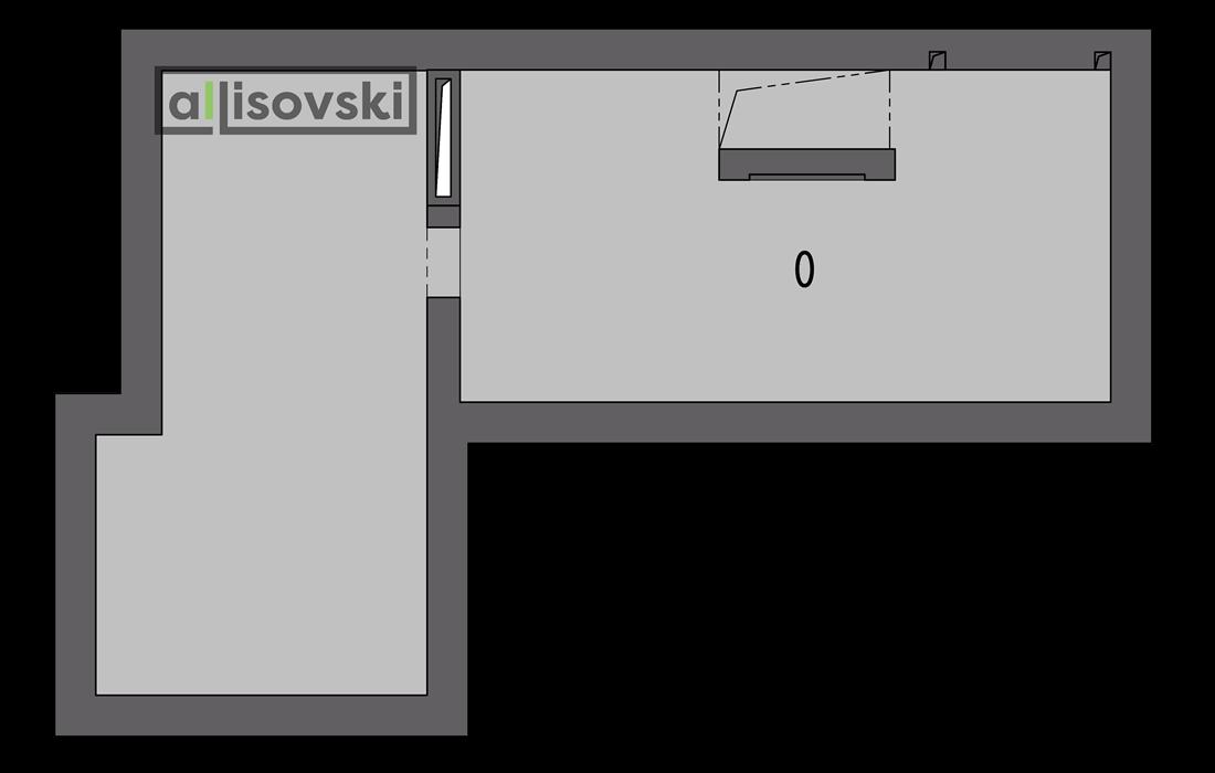 Обмерочный план частного дома цокольный этаж