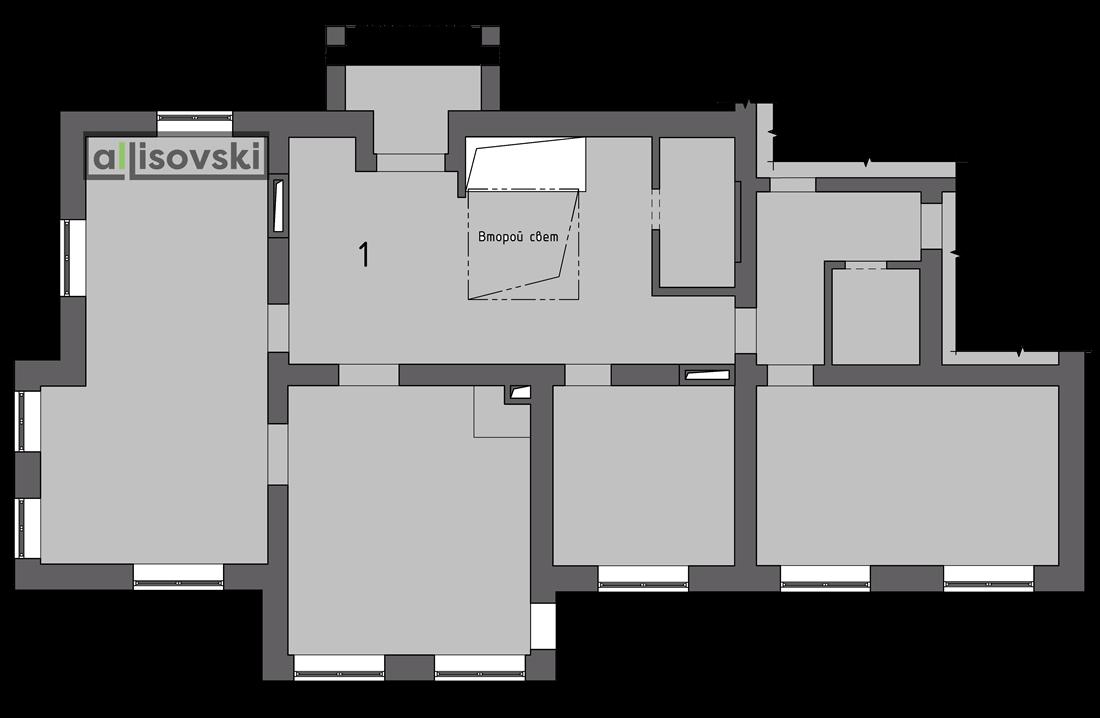 Обмерочный план частного дома первый этаж