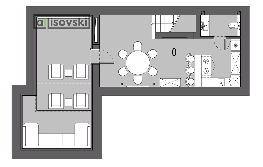 Планировка частного дома цокольный этаж