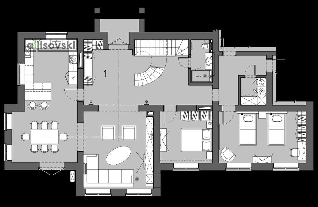 Планировка частного дома первый этаж