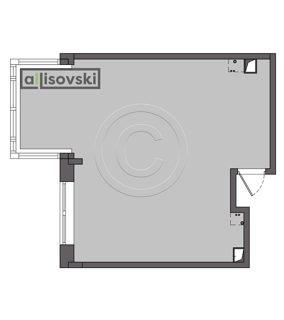 Обмерочный план квартиры Новокосинская