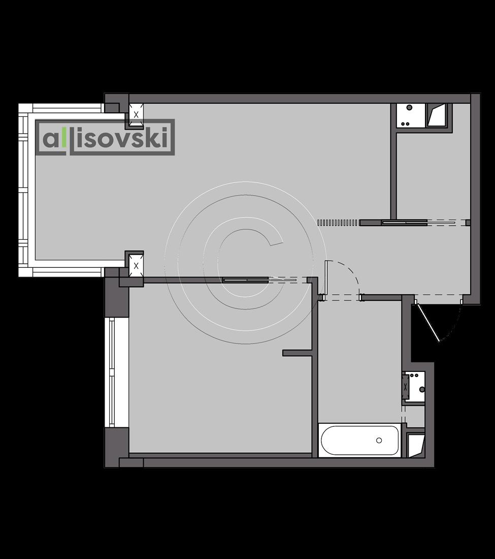 Проект квартиры Новокосинская монтажный план