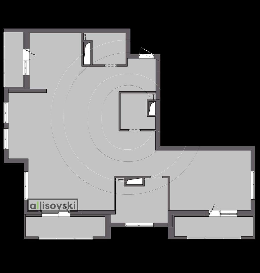Обмерочный план квартиры ЖК Донской Олимп Москва