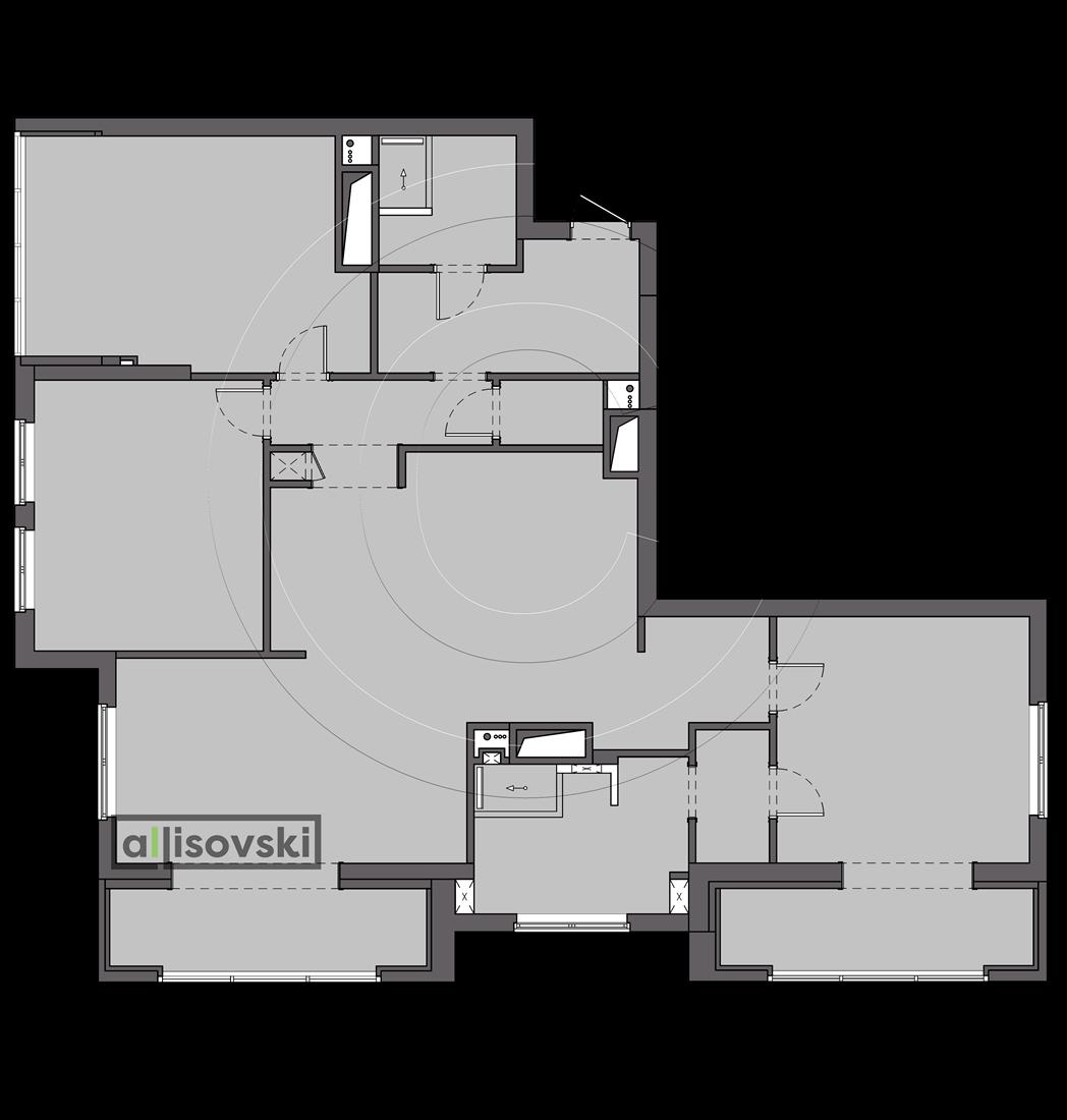 Планировка квартиры ЖК Донской Олимп Москва