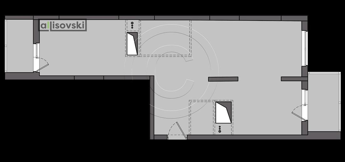 Исходная планировка квартиры UP-квартал Сколковский