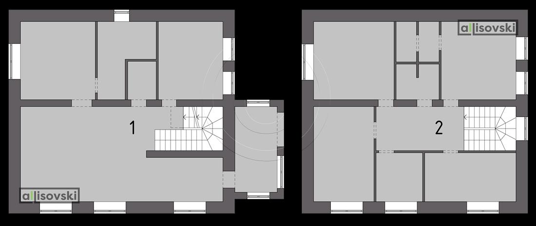 Планировка частного дома коттеджа Тюмень