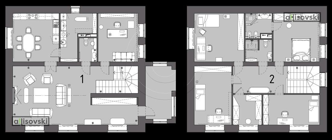 Перепланировка дома коттедж Тюмень