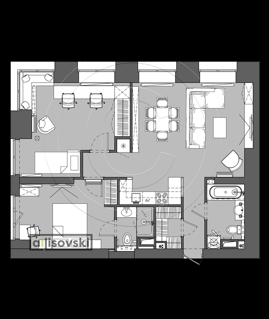 Проект квартиры мебель ЖК Невский