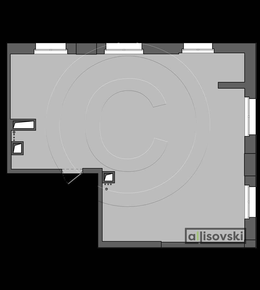 Исходная планировка квартиры ЖК Родной город