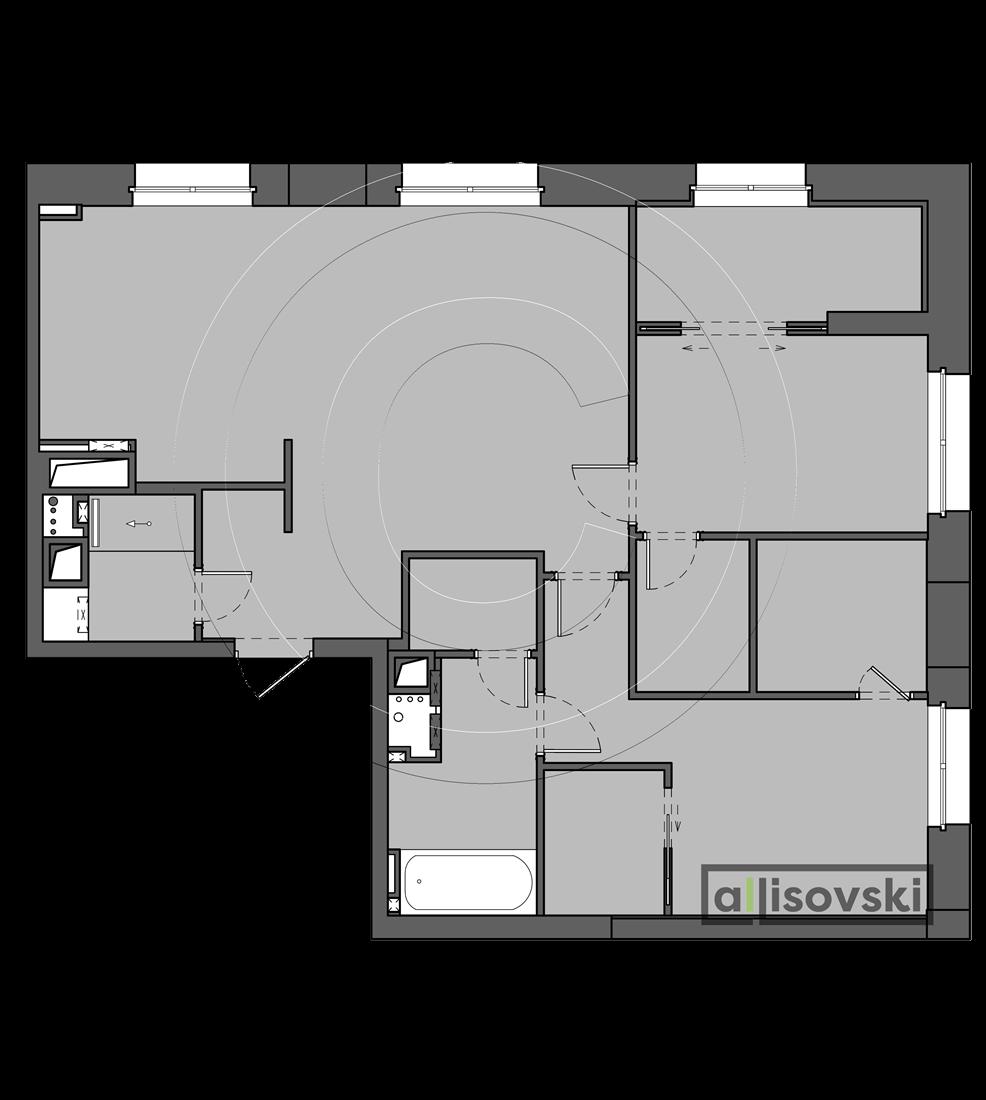 Планировка квартиры ЖК Родной город