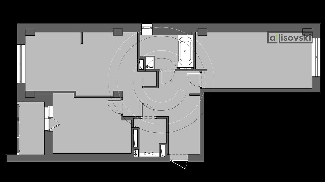План квартиры после демонтажа
