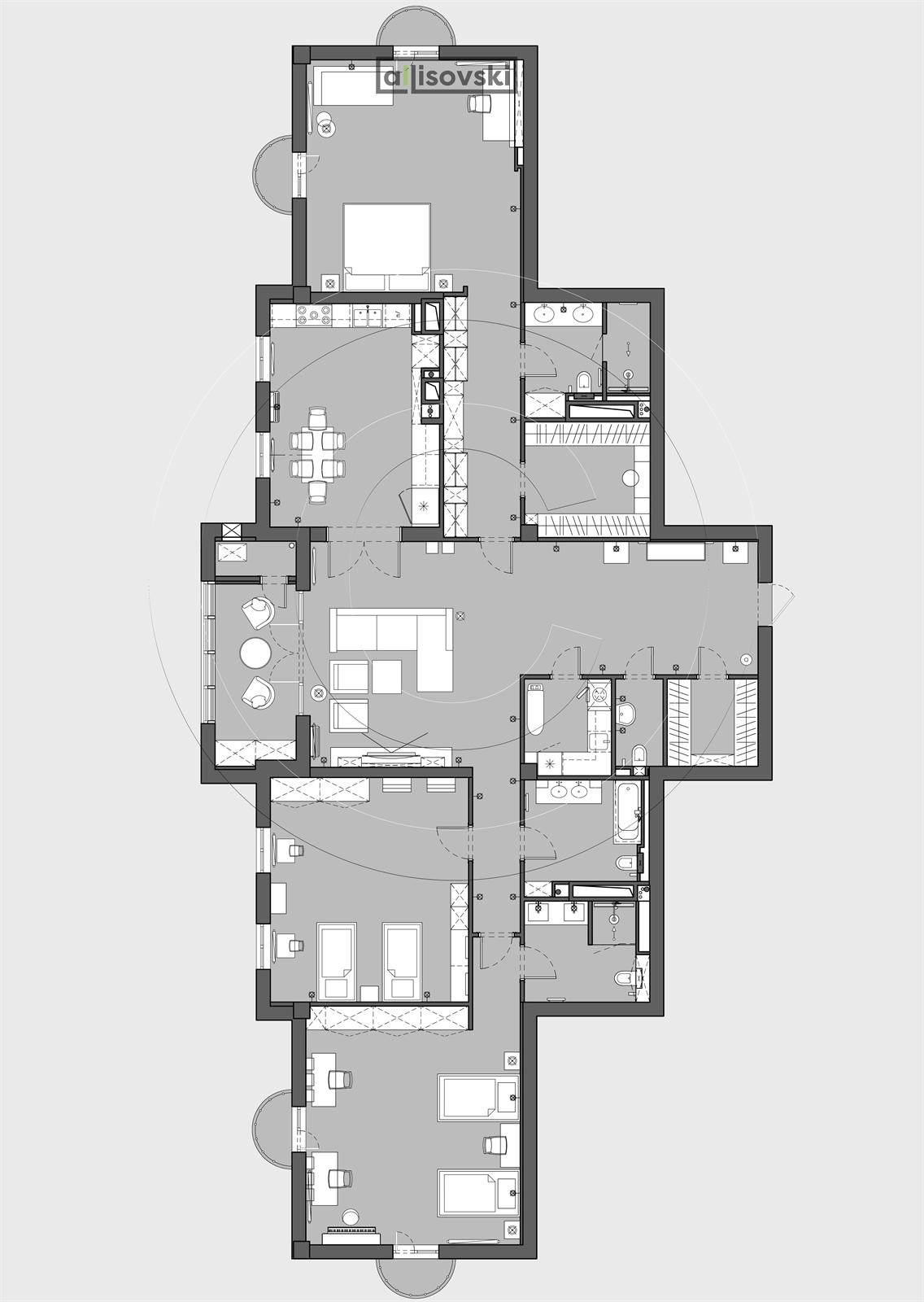 Планировка квартиры Казахстан