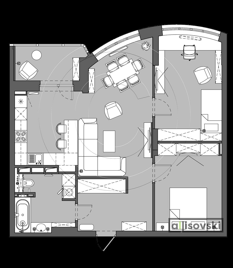 Проект квартиры Лебяжий