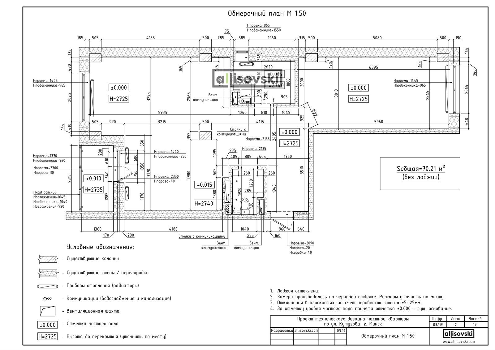 Обмерочный план квартиры чертежи