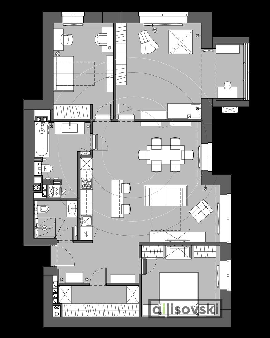 Планировка квартира Басманный переулок