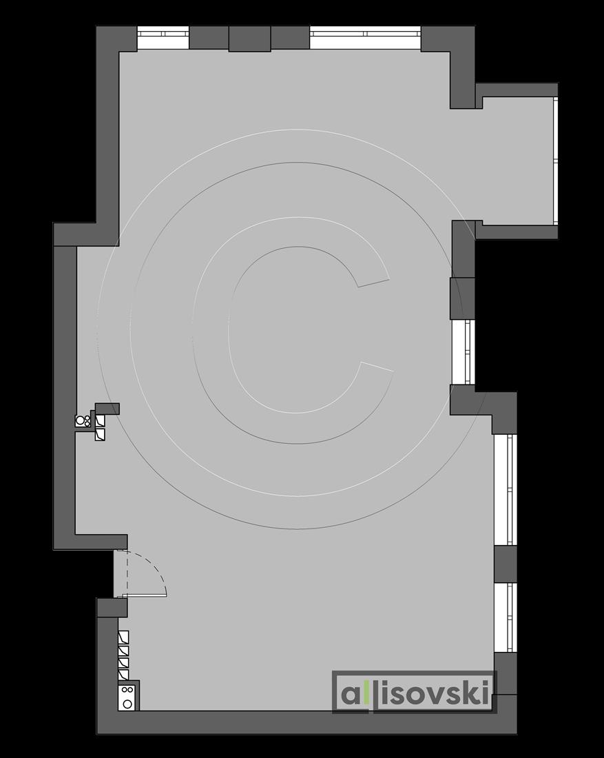 Исходный план квартира Басманный переулок