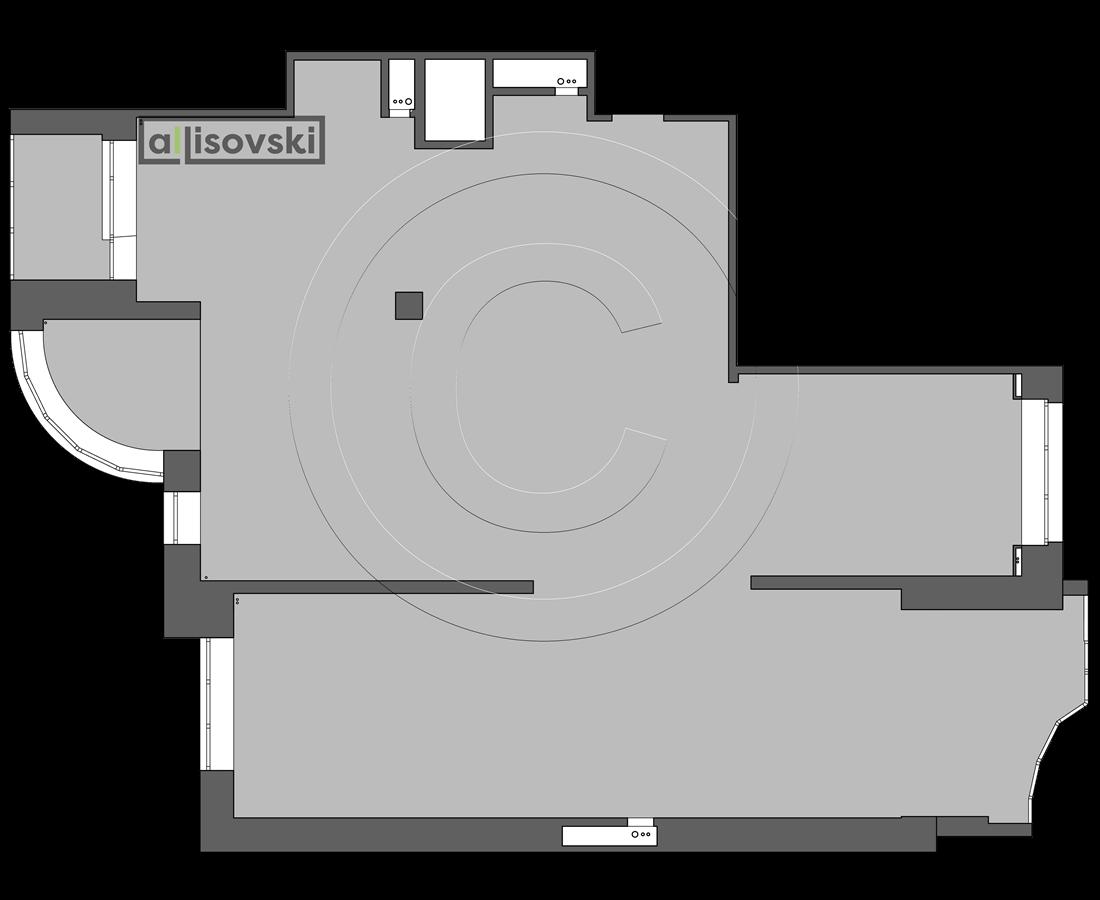 Исходная планировка многокомнатной квартиры