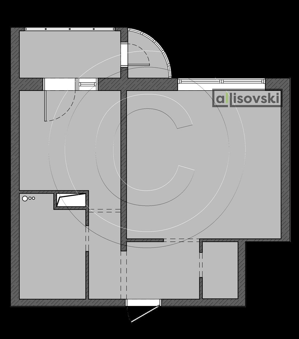 Исходная планировка квартиры Московский