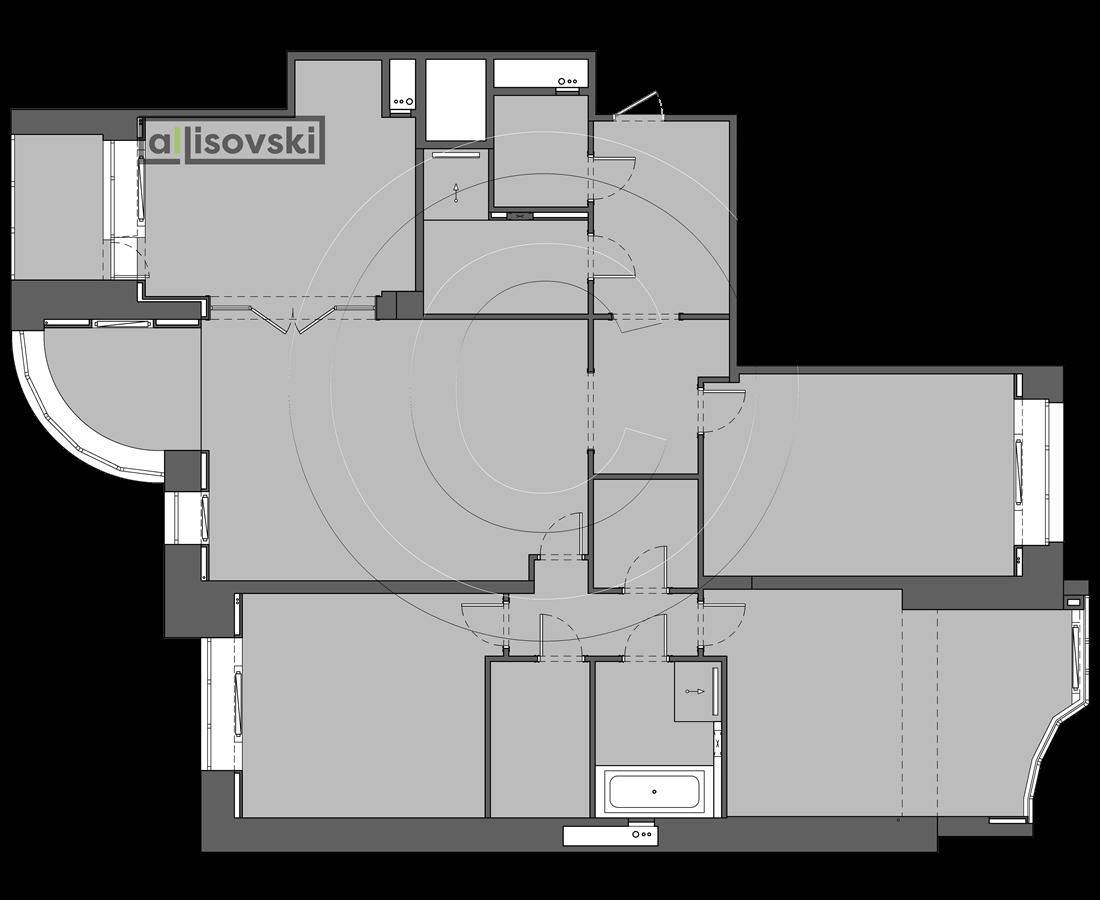 Перепланировка многокомнатной квартиры