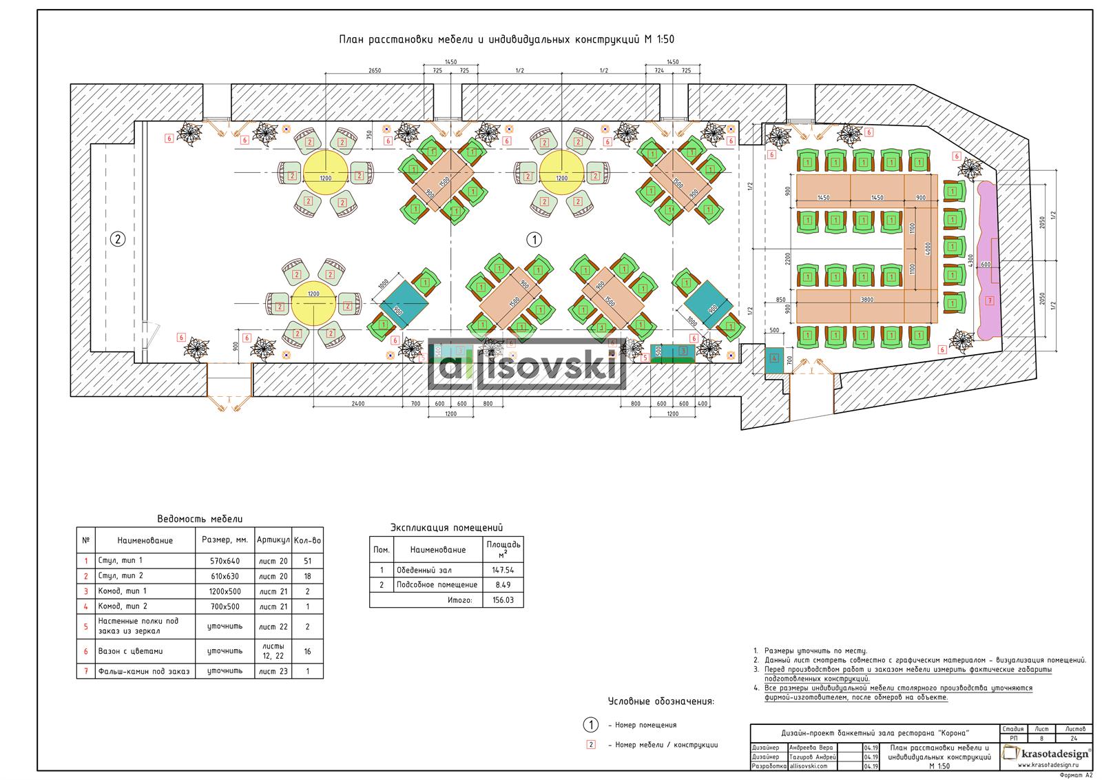 Проект банкетного зала чертежи