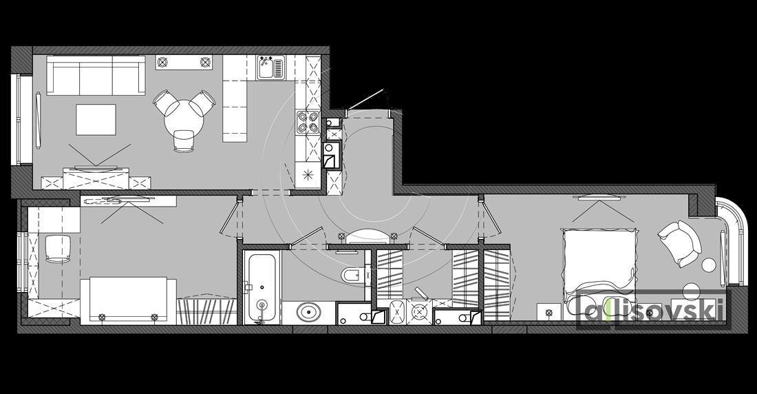 План перепланировки мебели